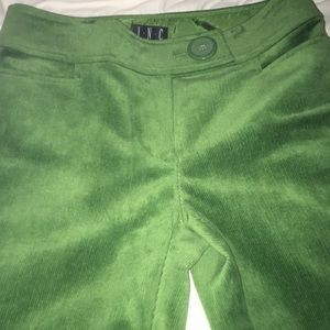 Inc. Green Dressy Courderoy Pants 6P